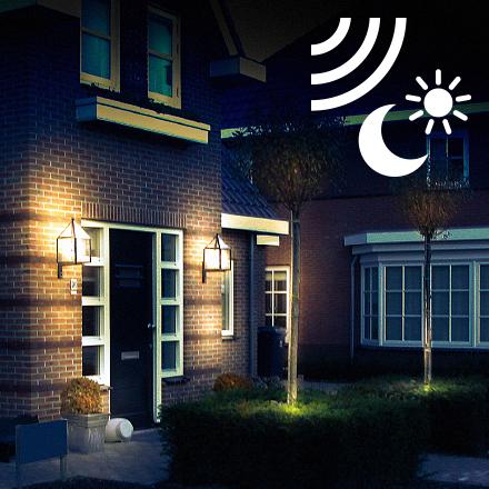 Buitenverlichting met dag/nacht sensor