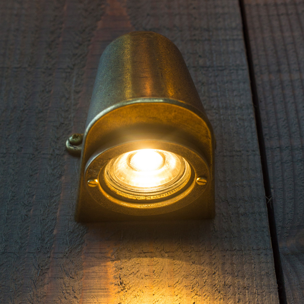Buitenverlichting buitenlamp Offshore, bronzen downlighter, massief brons, wandspot, slijtvast en onderhoudsvrij, KS Verlichting
