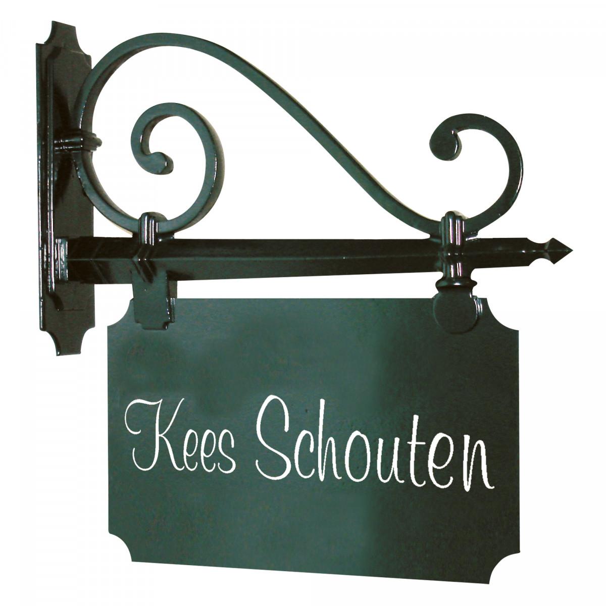 Stijlvol en klassiek vormgegeven naambord een handgemaakt kwaliteitsproduct van KS Verlichting
