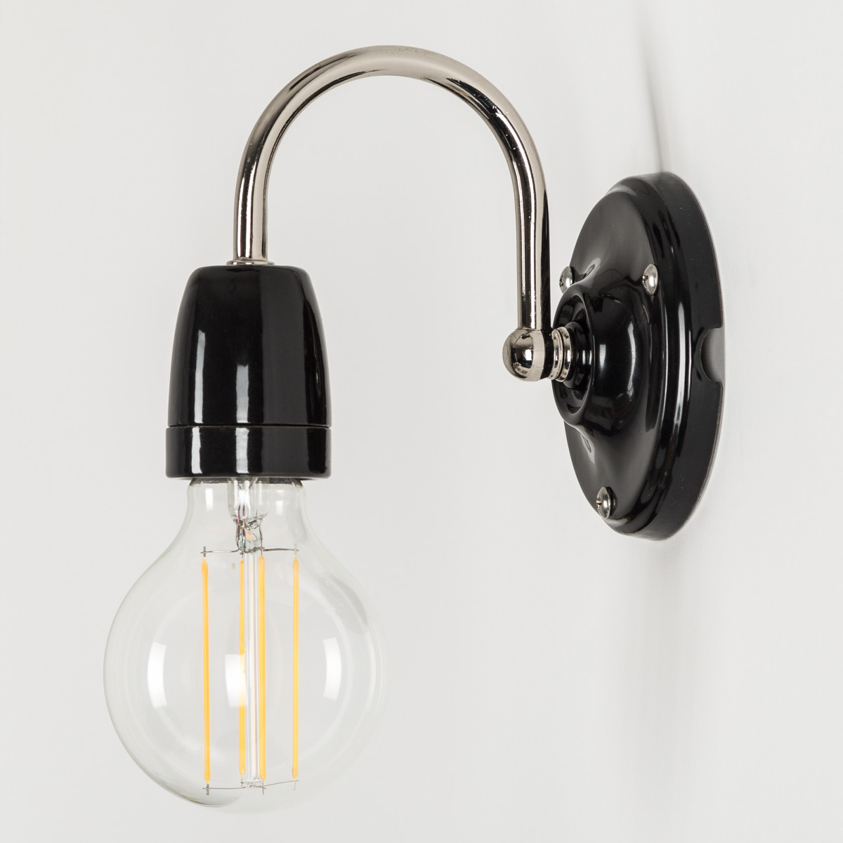 Wandlamp Sophie zwart