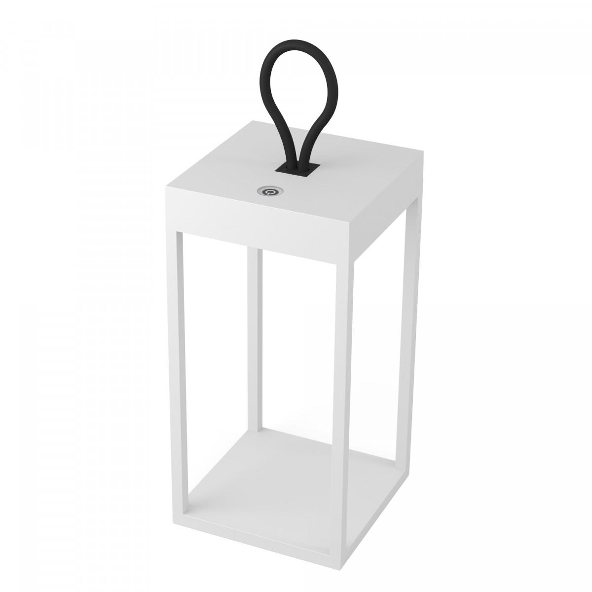 Windlicht Carlo Touch wit oplaadbaar met USB