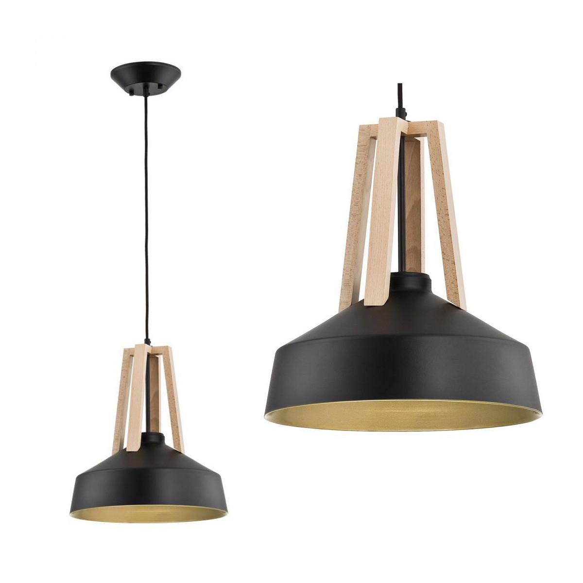 Hanglamp Basic Wood zwart