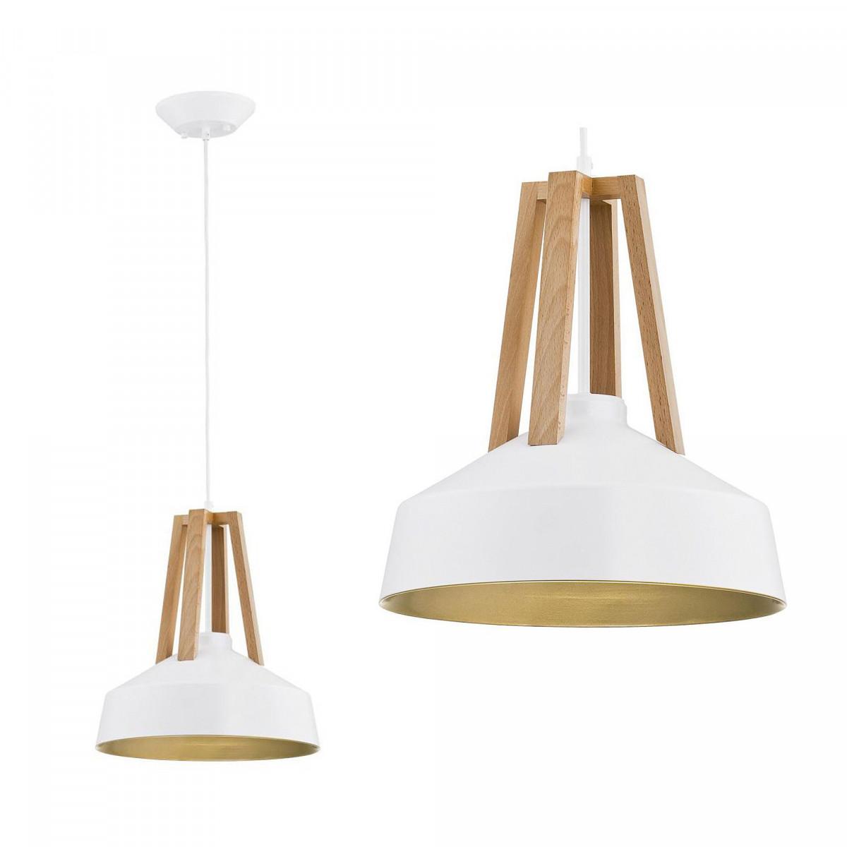 Hanglamp Basic Wood wit