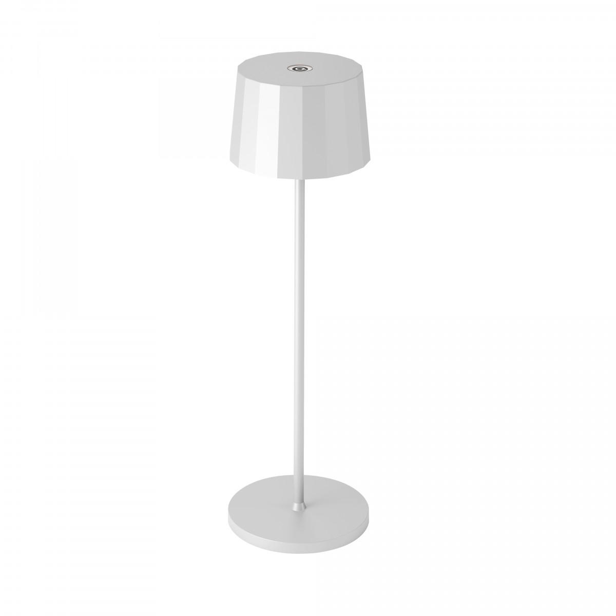 Tafellamp Lido Touch wit met USB