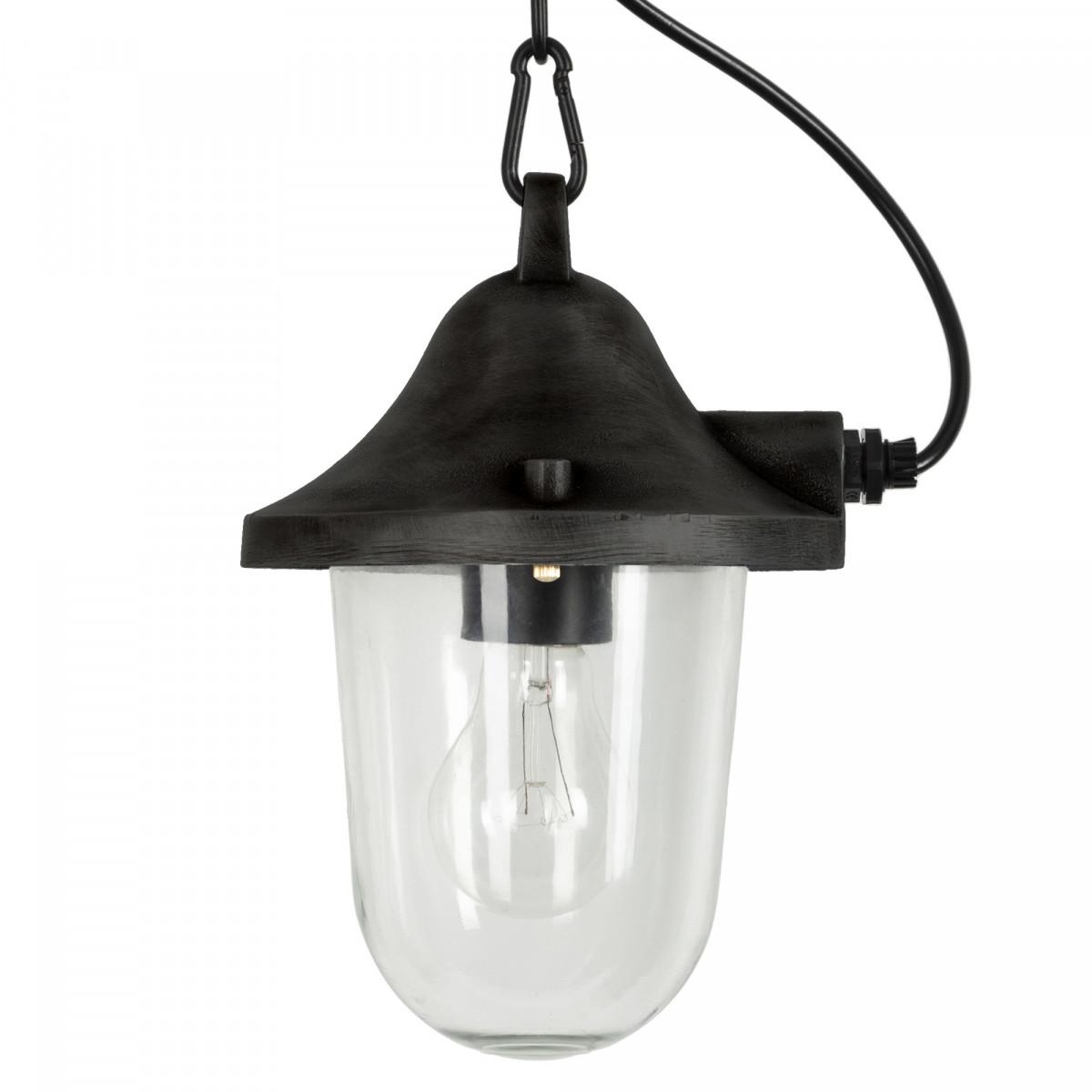 Hull kettinglamp Zwart