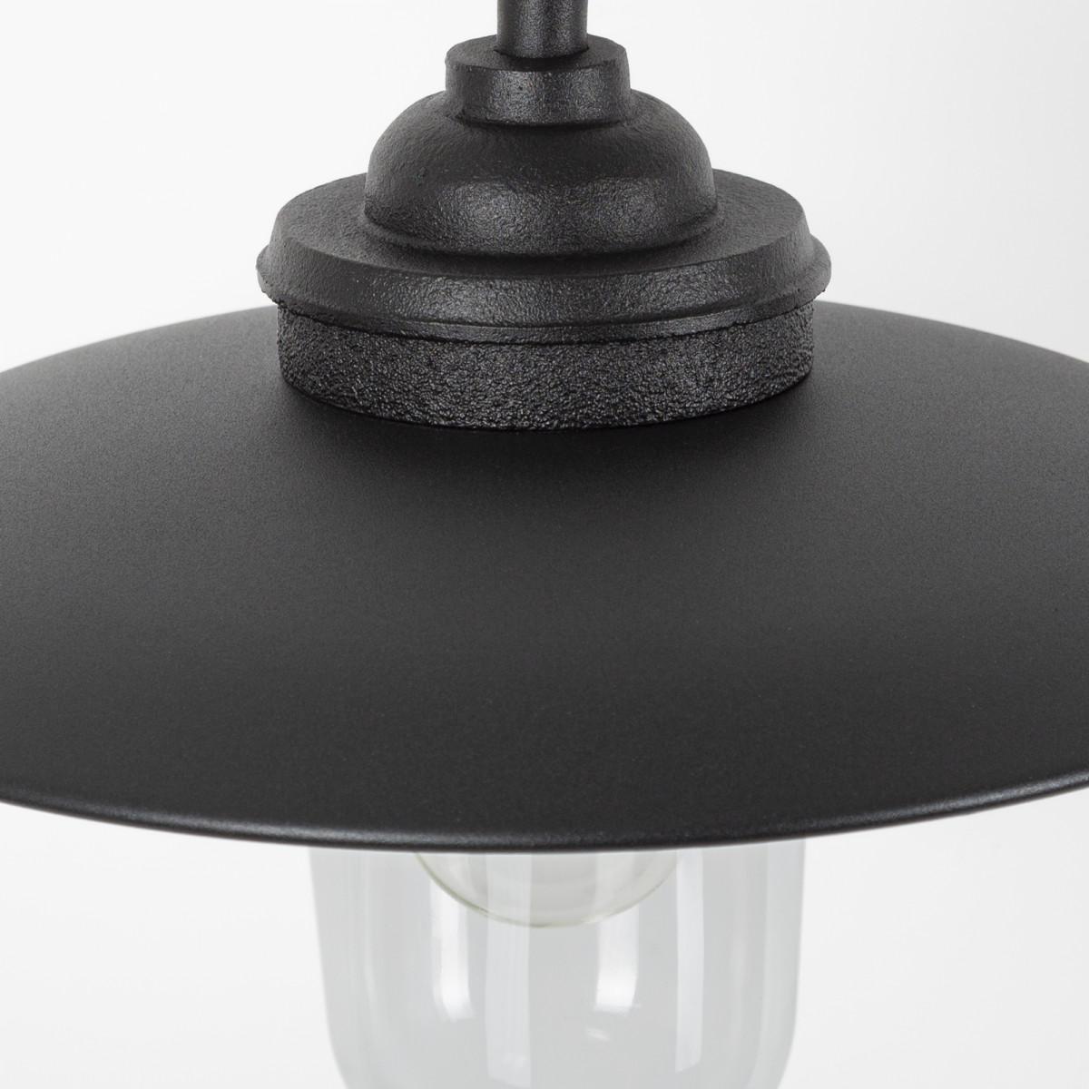 Stoere Gietijzeren Stallamp Provence buitenlamp  Zwart