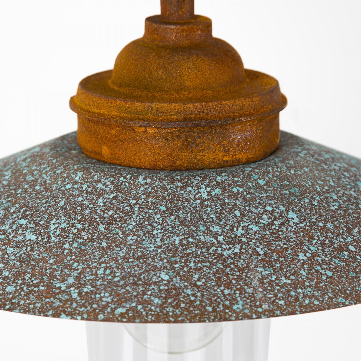 Stallamp Ardennes Roest gietijzer koper landelijke buitenverlichting, franse stallamp van KS Verlichting