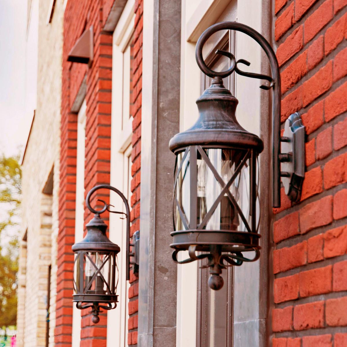 buitenlamp romantica rustiek bruine muurlamp voor buiten in een klassiek landelijke stijl van KS Verlichting