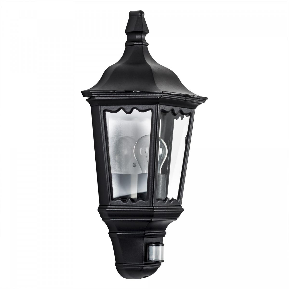 Buitenlamp Met Sensor Zwart.Buitenlamp Ancona Plat Sensor