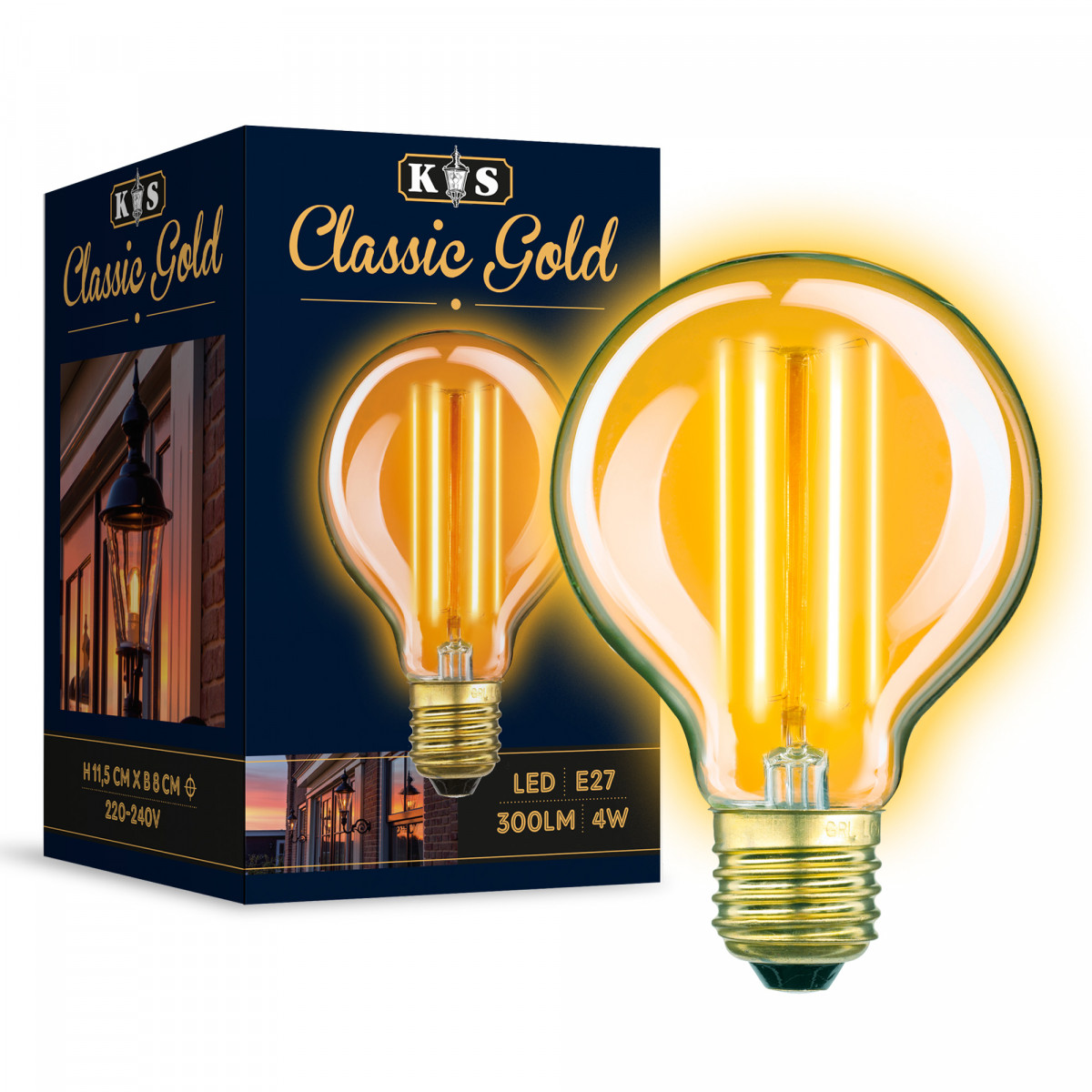 LED Lamp Classic Gold Globe 4W