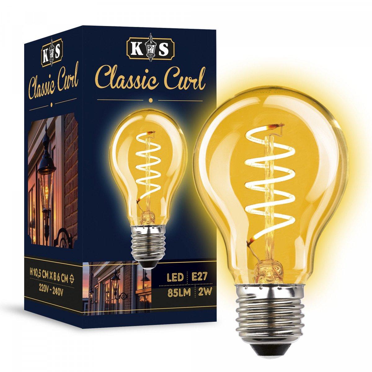 LED lamp Classic Curl 2W