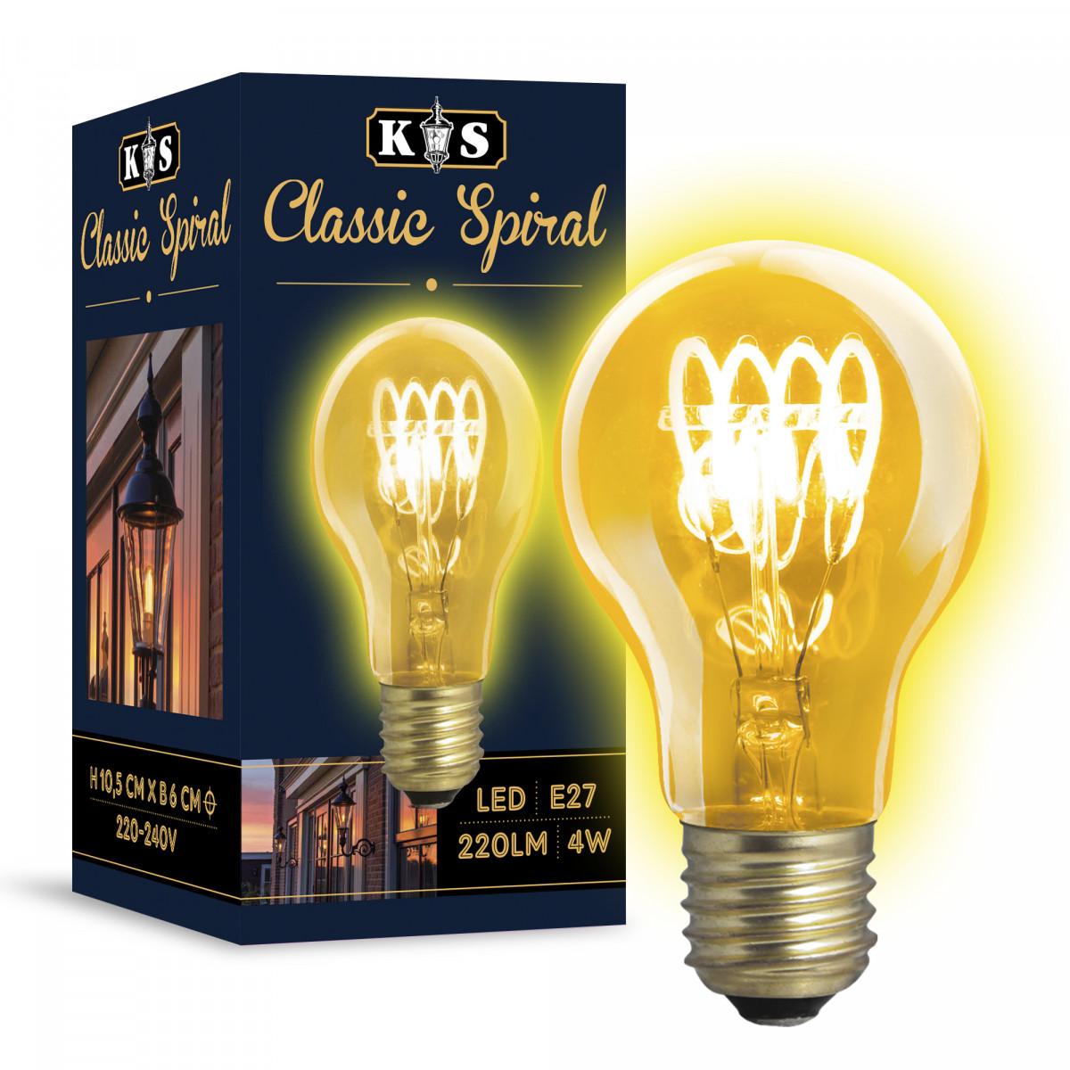 LED lamp Classic Spiral 4W