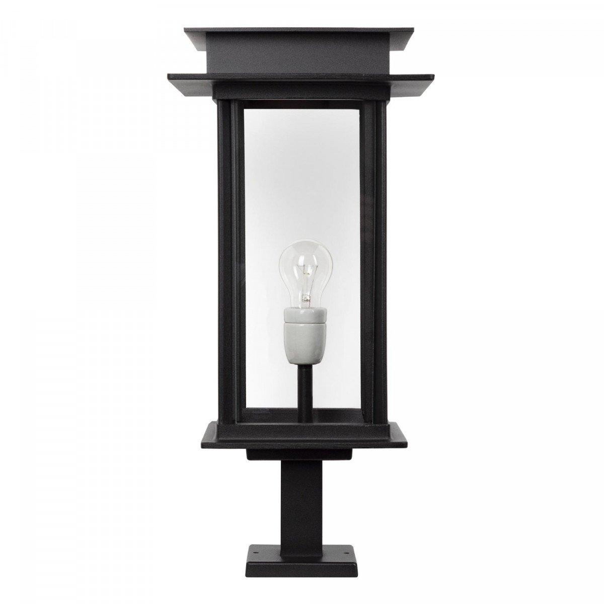 Buitenlamp Praag XL sokkel, prachtige strak klassiek tijdloze unieke buitenverlichting op een voet, stijlvol vormgegeven buitenverlichting en tuinverlichting van KS Verlichting, kwaliteitsverlichting handmade