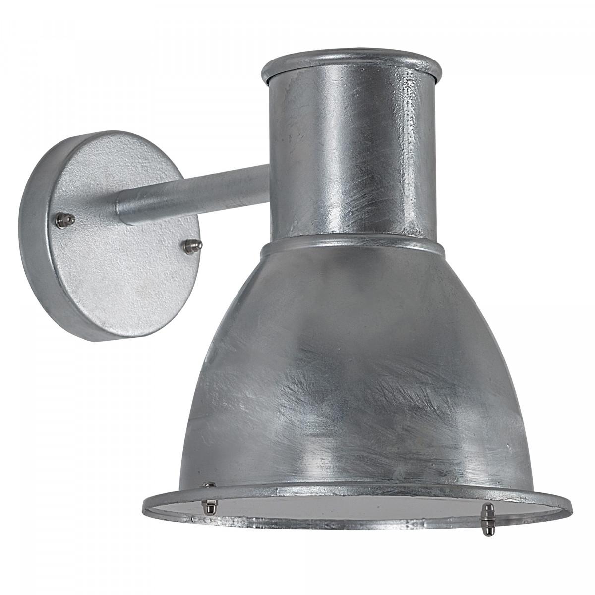 Buitenlamp Barn verzinkt, moderne wandverlichting voor buiten, buitenverlichting gegalvaniseerd, type stallamp, unieke trendy wandlamp van KS Verlichting