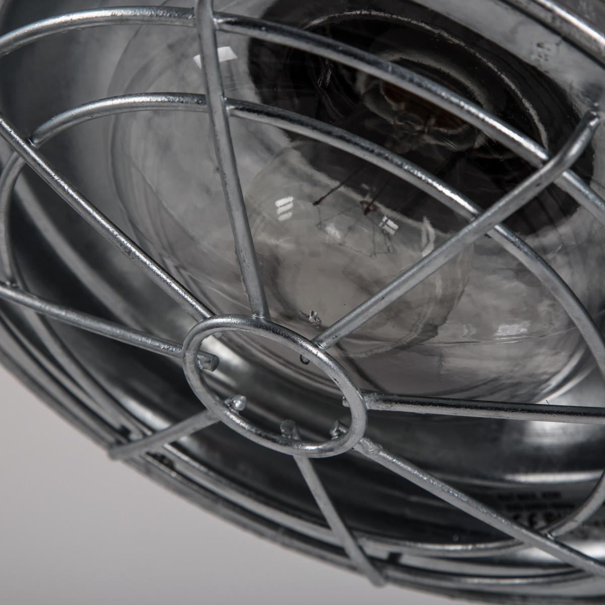 buitenverlichting, moderne wandverlichting, type stallamp, vervaardigd van verzinkt staal voorzien van een raster aan de onderzijde, trendy muurlamp voor buiten