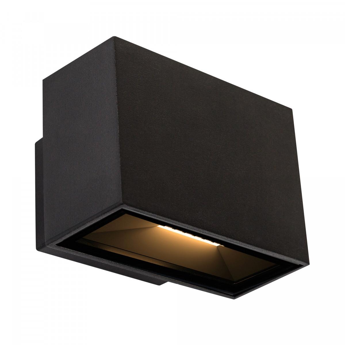 LED Gevelspot Segment Small een prachtige compacte stijlvolle aluminium LED wandspot met zwarte finish, weerbestendig en duurzame buitenverlichting van KS Verlichting
