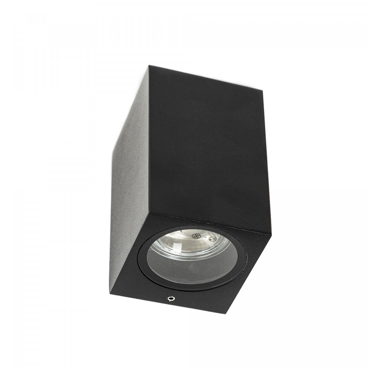 Gevelverlichting Geo downlighter wandspot zwart, buitenverlichting voor het verlichten van gevels, strak vormgegeven, hoge kwaliteit, scherpe prijs, KS Verlichting