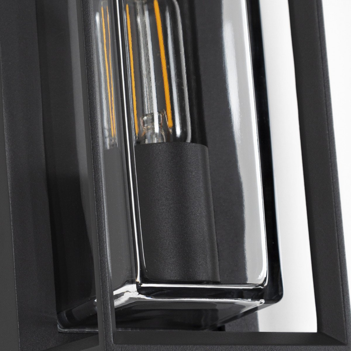 Eaton wandlamp zwart, stijlvol strak vormgegeven wandverlichting voor buiten met heldere beglazing, buitenverlichting wandverlichting modern  KS Verlichting