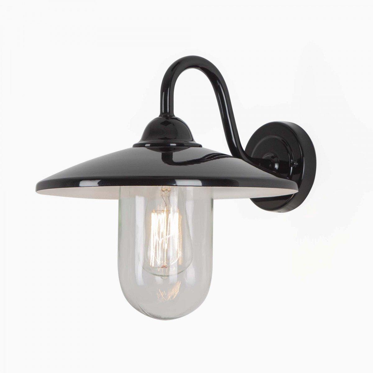 Buitenlamp Brig, hoogglans zwarte stallamp, buitenverlichting van KS Verlichting