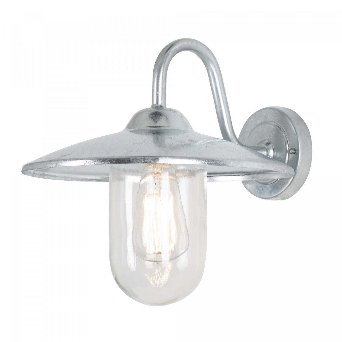 Buitenlamp Brig gegalvaniseerd, zinken stallamp, buitenverlichting van KS Verlichting