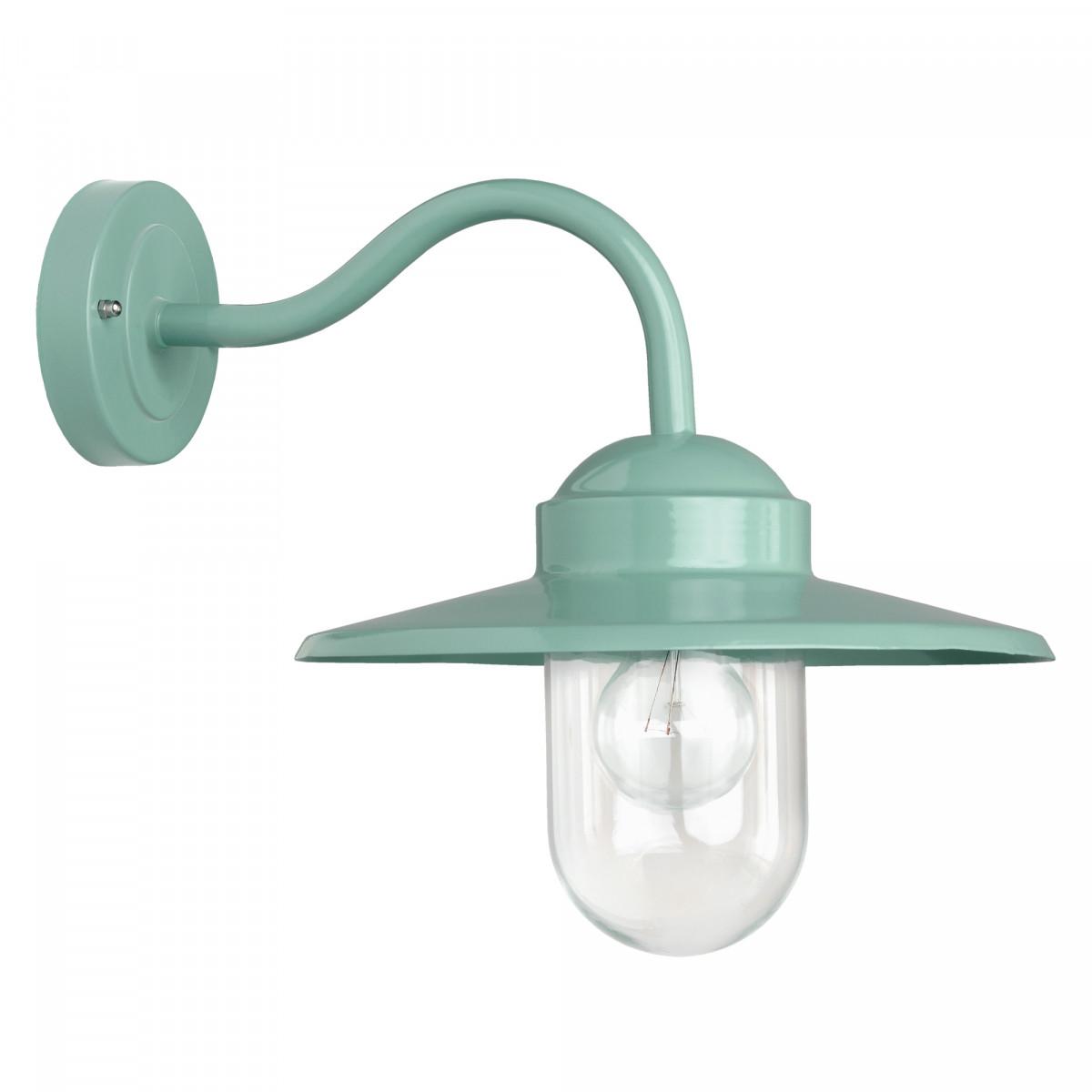 muurlamp Dolce mintgroen, prachtige trendy buitenlamp, type stallamp met helder stolpglas, E27 fitting geschikt voor led lichtbronnen, trendy buitenverlichting van KS Verlichting