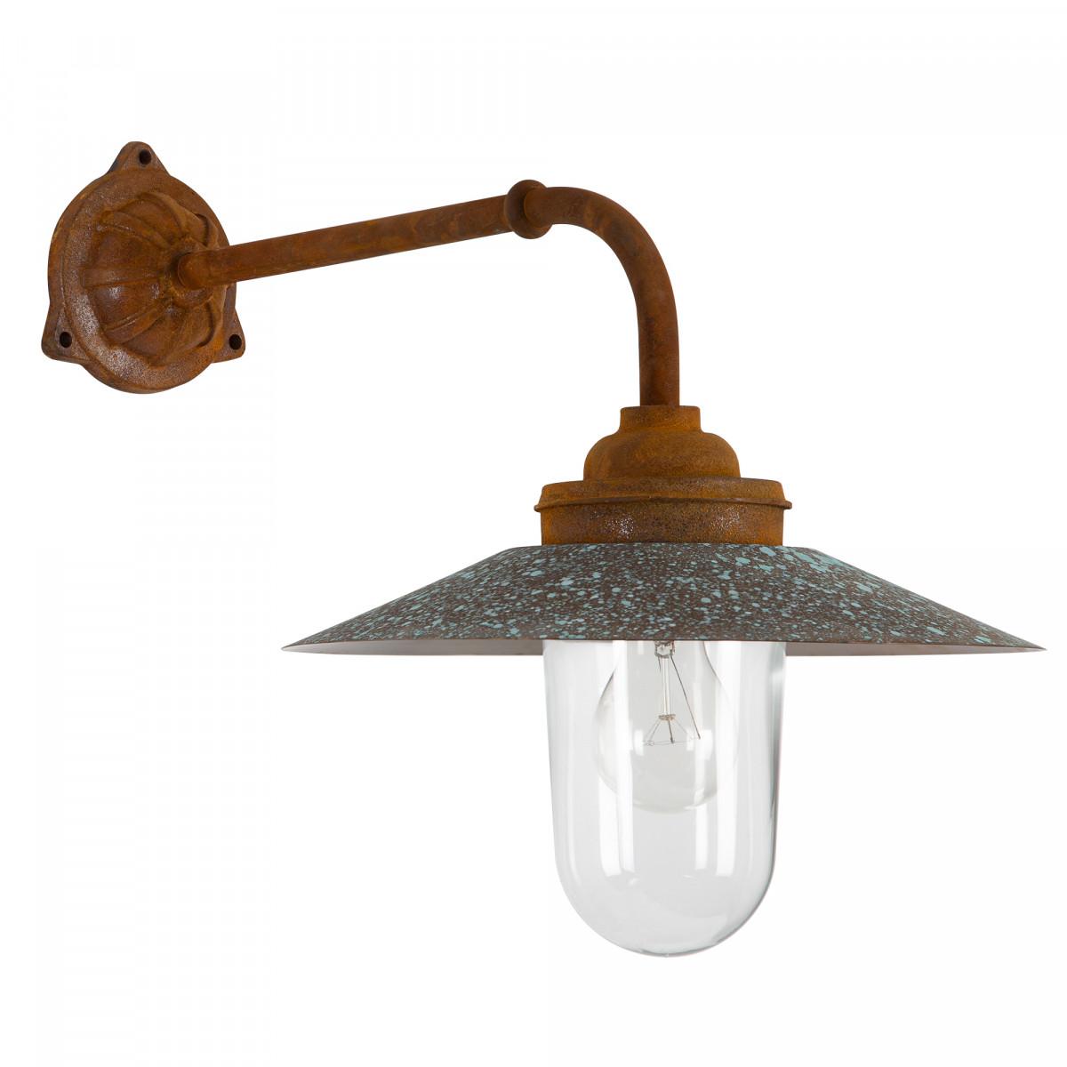 Gietijzeren Stallamp Provence buitenlamp Roest Koper