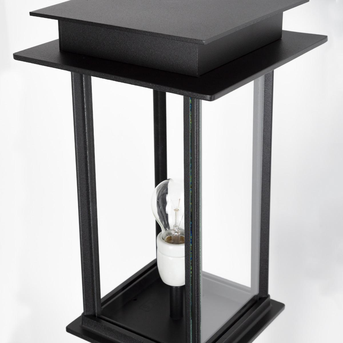 Buitenlamp Praag II sokkel, prachtige strak klassiek tijdloze unieke buitenverlichting op een voet, stijlvol vormgegeven buitenverlichting en tuinverlichting van KS Verlichting, kwaliteitsverlichting handmade