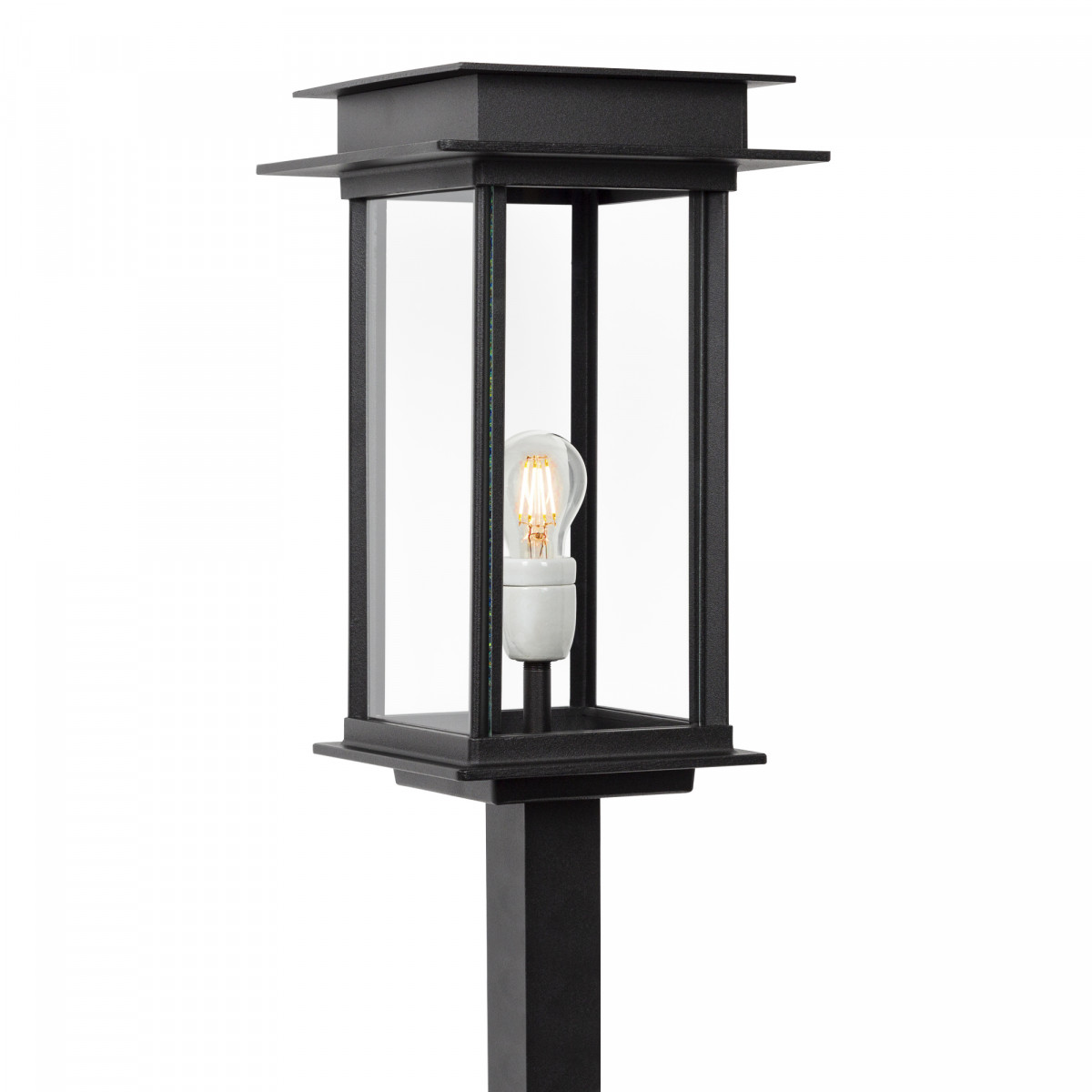 klassieke buitenverlichting terraslamp Praag een stijlvolle strak klassiek vormgegeven terras lantaarn voor buiten, tuinverlichting lantaarnpaal van KS verlichting