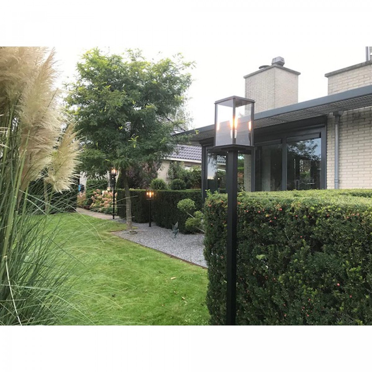 Tuinlamp Capital lantaarn 1 lichts zwart kwaliteitsverlichting van KS Verlichting exclusieve tuinverlichting sfeervol en functioneel