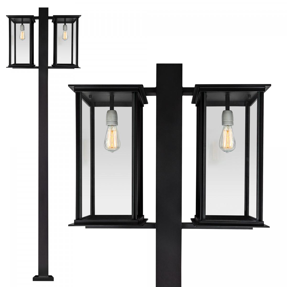 Tuinlamp Capital lantaarn 2 lichts van KS Verlichting exclusieve tuinverlichting