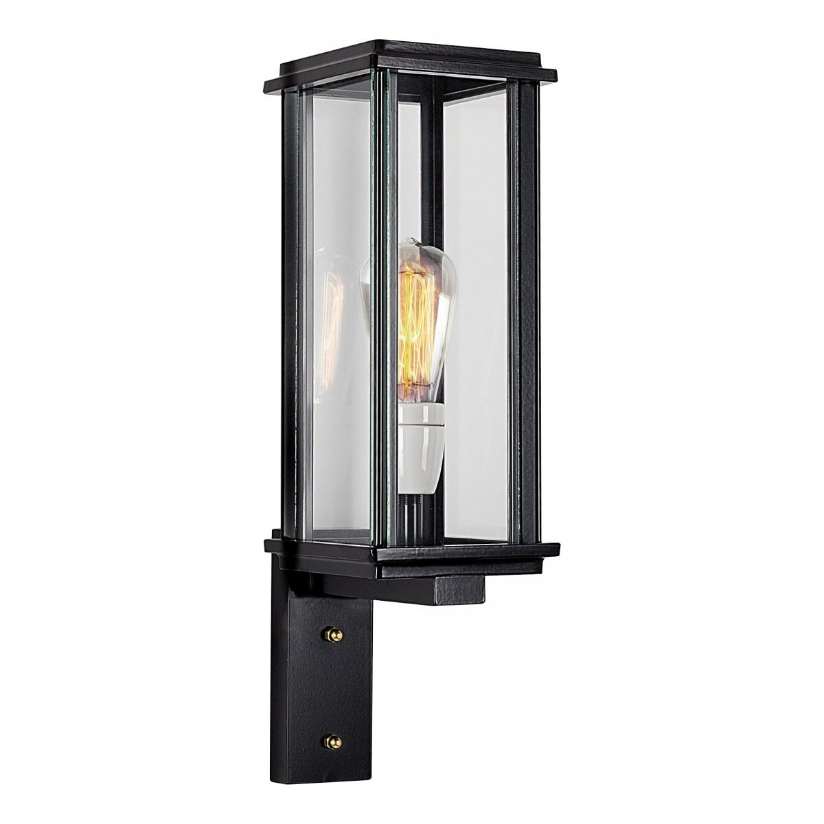 Buitenlamp Capital staand muurlamp een prachtige zwarte in strak klassieke stijl vormgegeven gevelverlichting van KS Verlichting