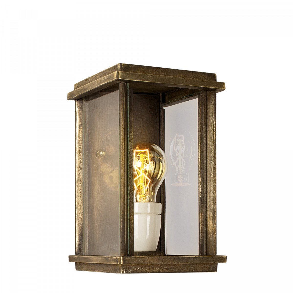 bronzen buitenlamp Capital muurlamp brons volledig onderhoudsvrije buitenverlichting van KS verlichting