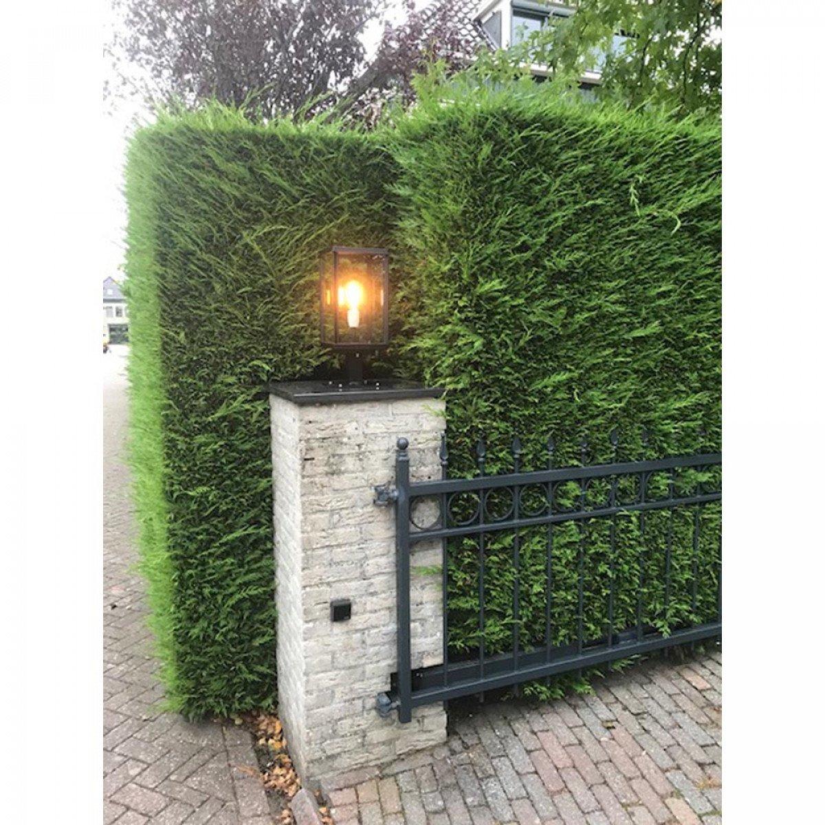 Strak klassieke buitenverlichting tuinlamp Capital sokkel ook geschikt als verlichting op een poer of zuil echte KS Verlichting