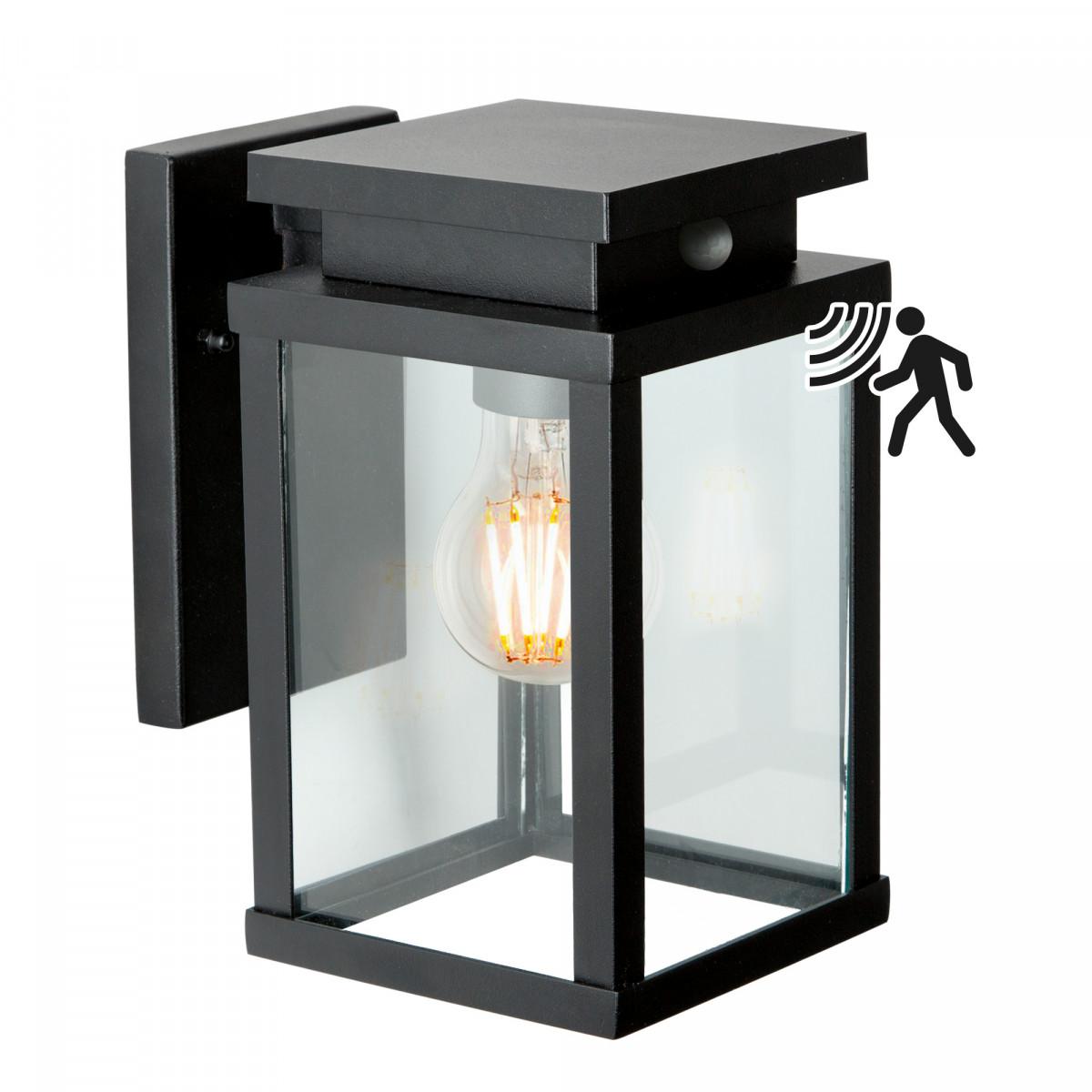 wandlamp jersey met sensor, strak klassiek stijlvol vormgegeven buitenlamp met bewegingssensor, buitenverlichting met bewegingsmelder van KS Verlichting