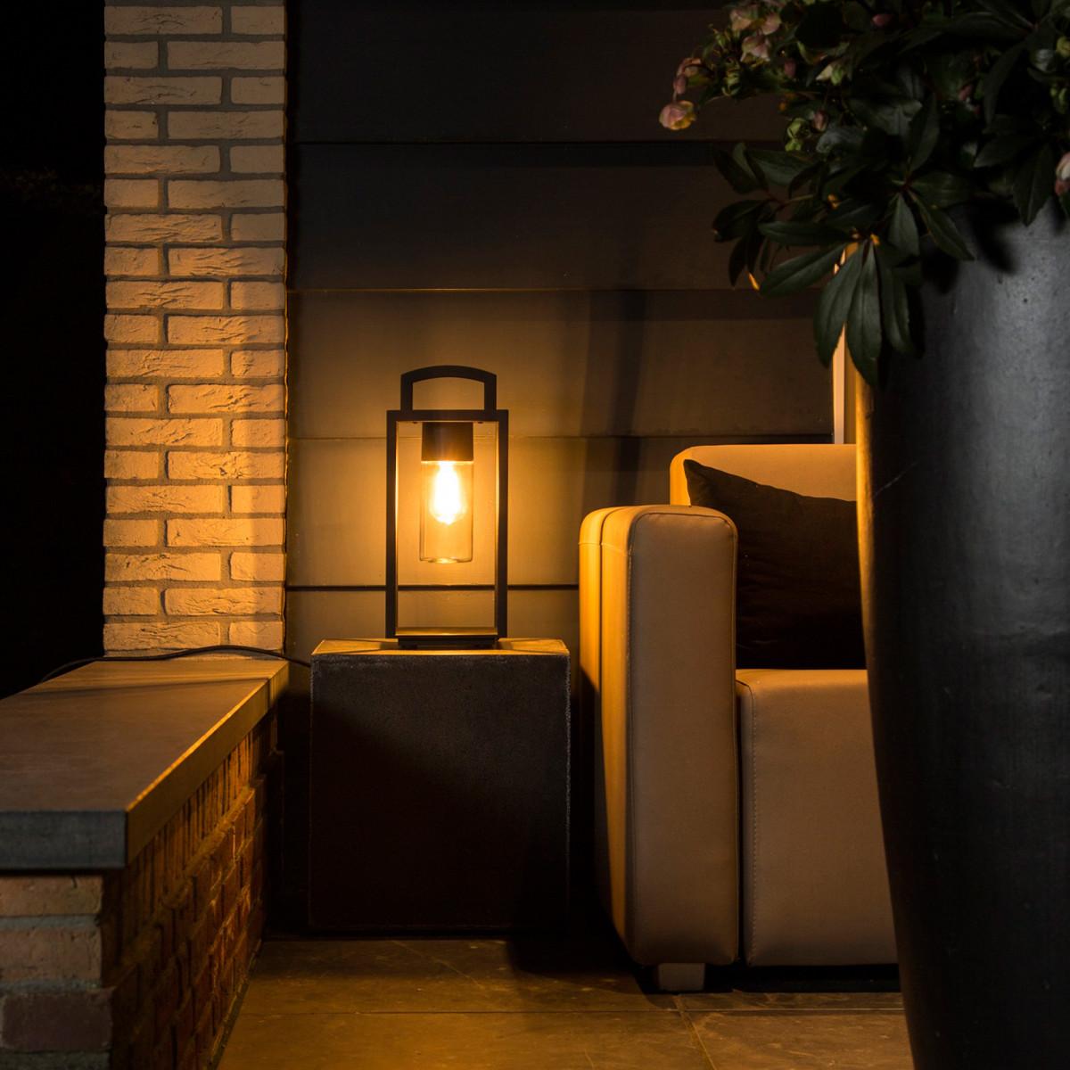 Lounge buitenlamp met stekker, 3 meter snoer, E27, super handig, buitenverlichting met stekker, portable, verlichting voor balkon, terras, overkapping van KS Verlichting