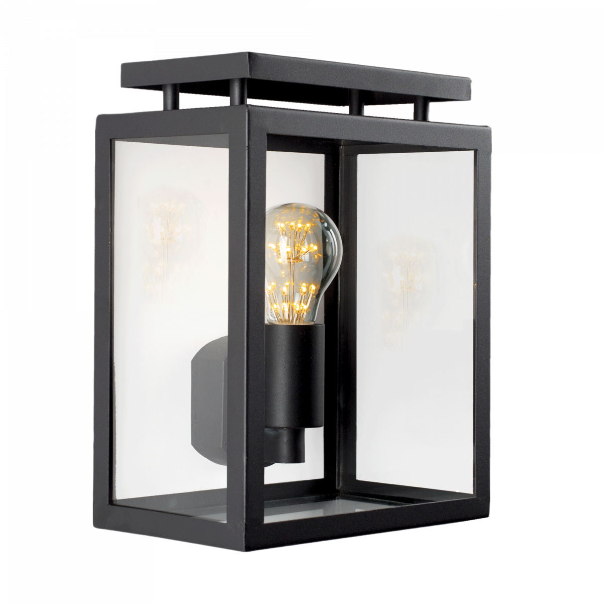Buitenverlichting de Vecht plat wandlamp, strak klassieke buitenlamp voor aan de muur, origineel design gevel verlichting van KS Verlichting