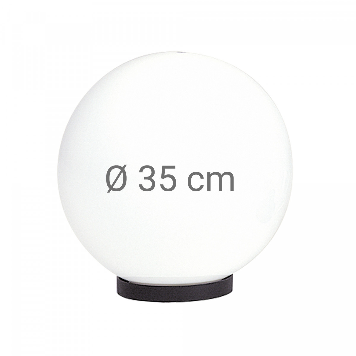 Globe 35 bol opaal wit
