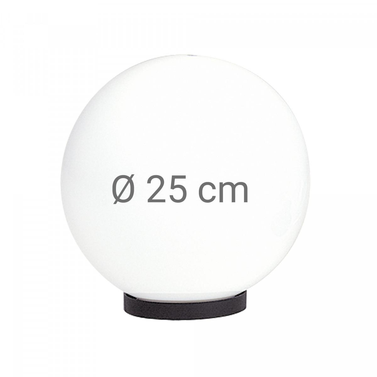 Globe 25 opaal wit bol