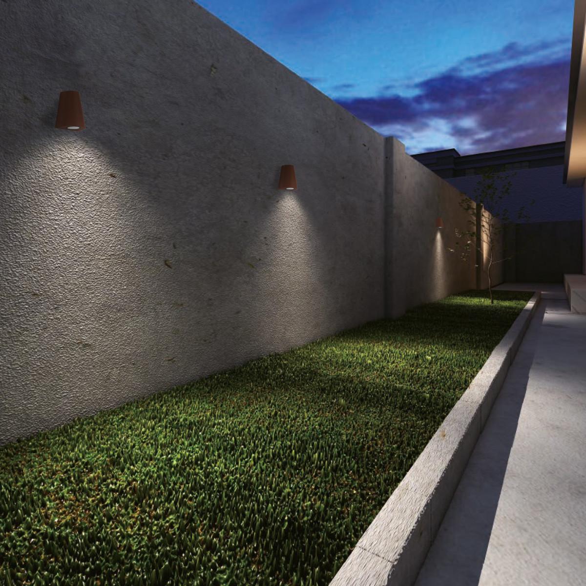 Wandspot Cone downlighter zwart, moderne wandverlichting voor buiten, buitenverlichting van KS Verlichting, conisch vormgegeven gevelspot