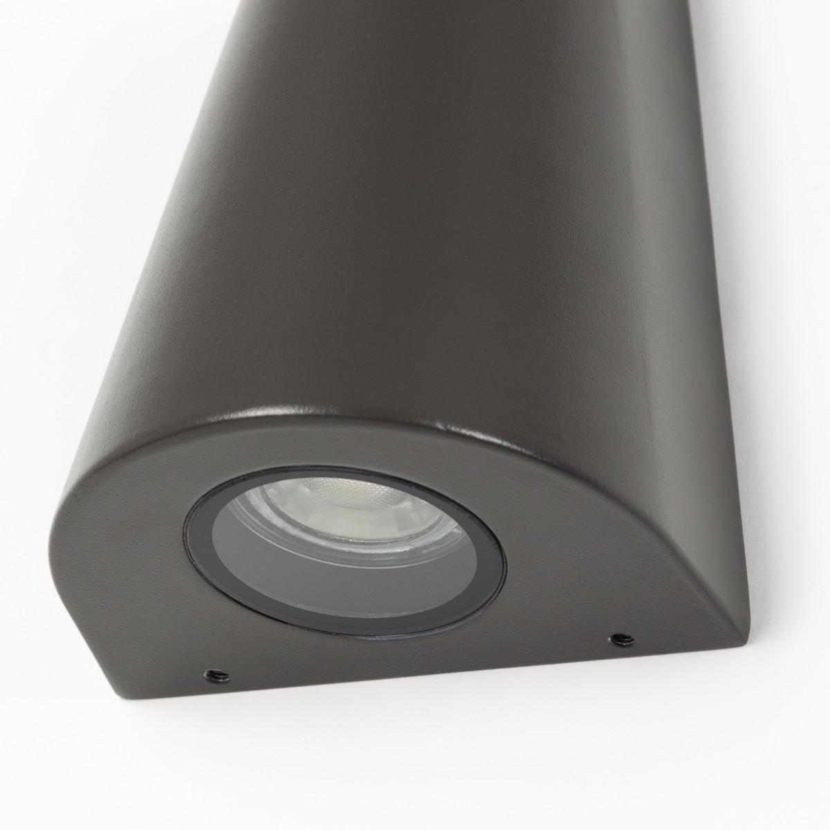 Buitenlamp Cone Downlighter Antraciet, moderne wandverlichting voor buiten, sfeervol en functionele buitenverlichting van KS Verlichting