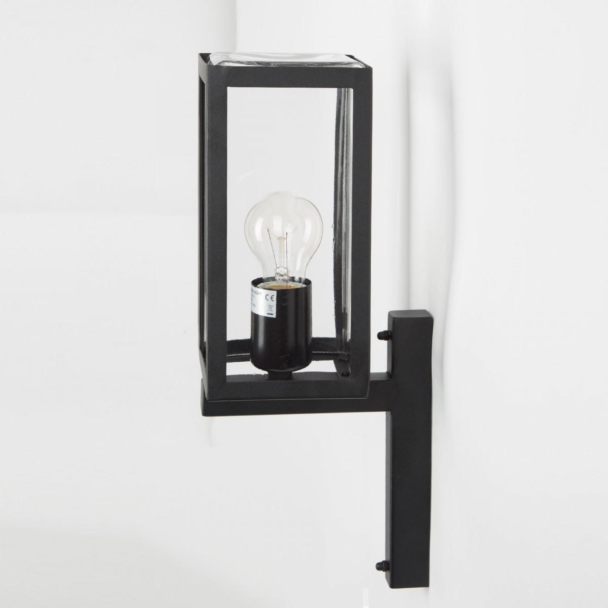 Wandlamp Huizen, mooie strak vormgegeven modern box design buitenlamp zwart rvs buitenverlichting,  moderne gevelverlichting van KS Verlichting