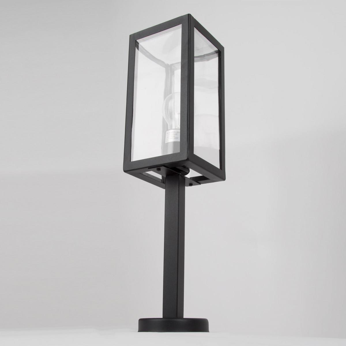 Buitenverlichting Huizen sokkel, modern box design tuinverlichting, zwarte tuinlamp van KS Verlichting