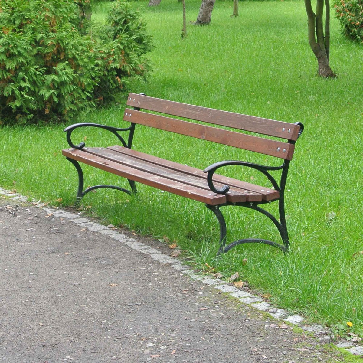 Zijkanten klassieke robuuste parkbank