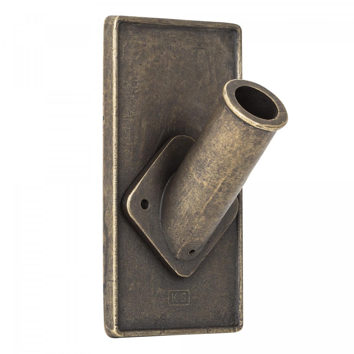 Vlaggenstokhouder brons vierkant voor aan de gevel van een woning of pand geheel onderhoudsvrij een sieraad aan de gevel van KS Verlichting
