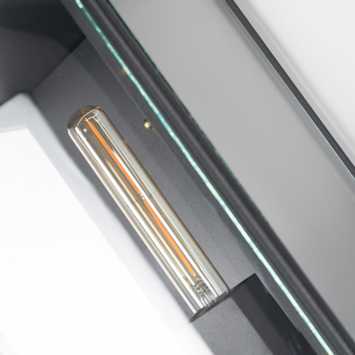 Buitenlamp Capital XL zwart exclusieve buitenverlichting strak klassiek van KS Verlichting met de hand vervaardigde wandverlichting van hoge kwaliteit